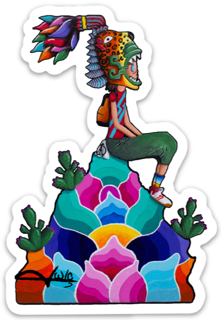 "Image of Die Cut Stickers "" Jaguar Boy"""
