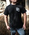 "B.C. LOGO - ""COLLAPSE"" LYRICS - BLACK T-SHIRT"