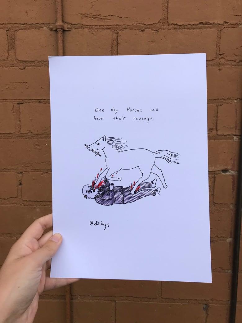 Image of Horse revenge!