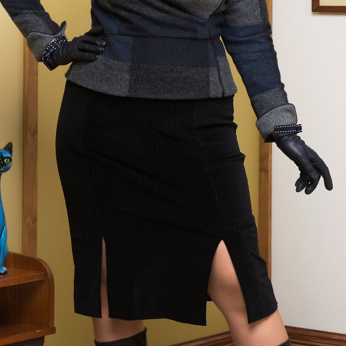 Image of SIEBERT PENCIL SKIRT