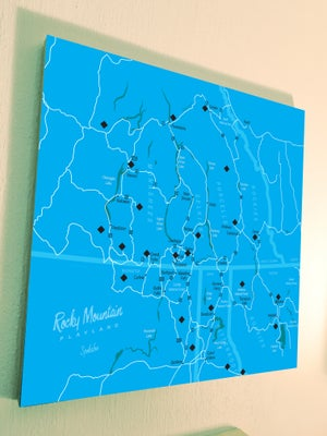 "Rocky Mountain Playland 18"" x 18"" Map"