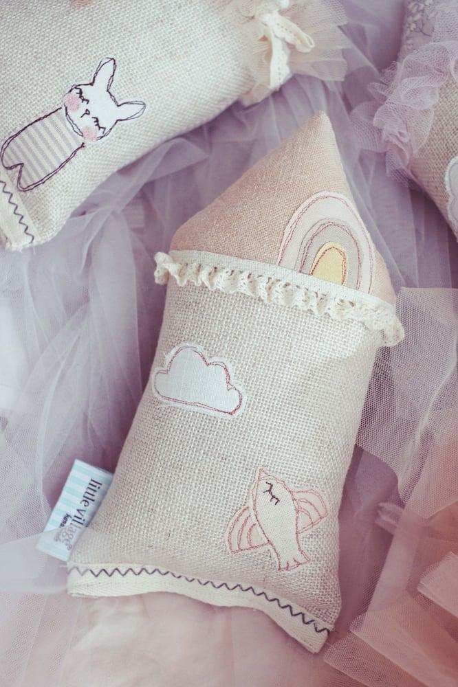 Image of PREORDER - Teeny Tiny Rainbow Cushion