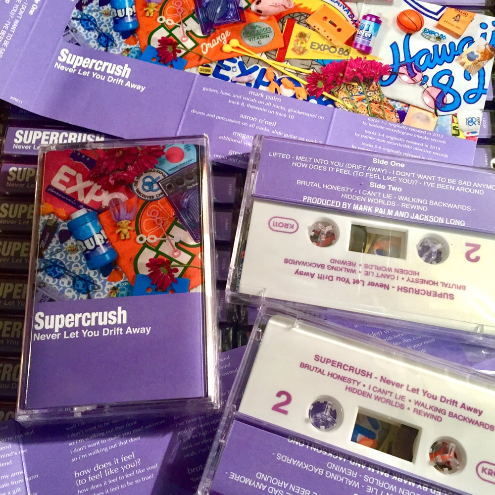 Image of SUPERCRUSH - Never Let You Drift Away cassette tape