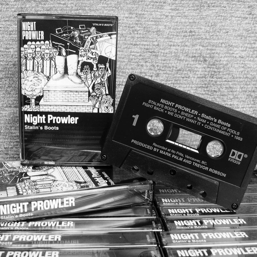 Image of NIGHT PROWLER - Stalin's Boots cassette tape