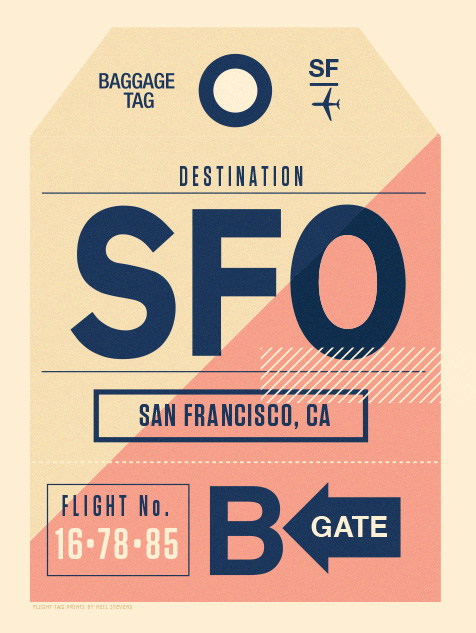 Image of Flight Tag Prints - San Francisco
