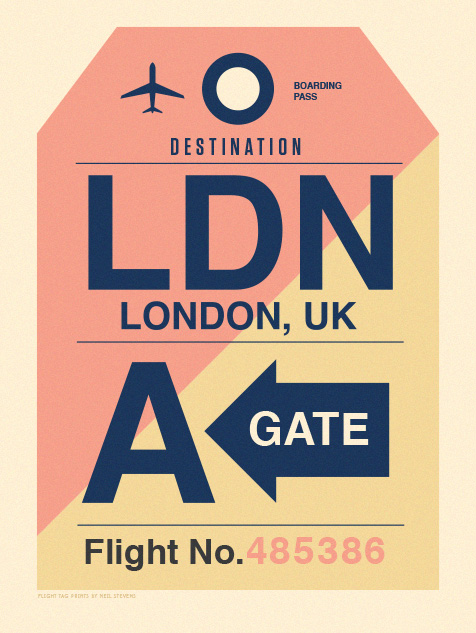 Image of Flight Tag Prints - Londres