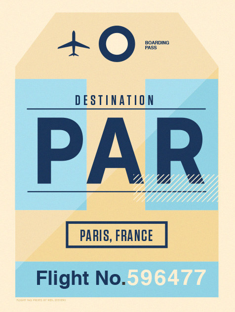 Image of Flight Tag Prints - Paris