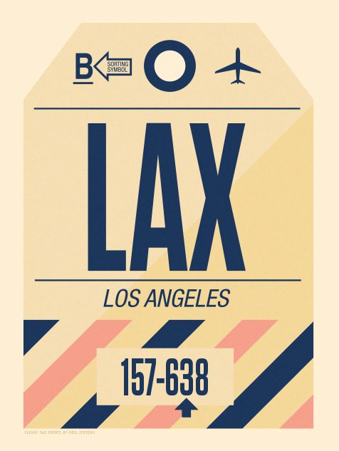 Image of Flight Tag Prints - LA