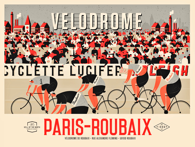 Image of Paris-Roubaix Landscape (Red & Black)