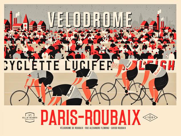 Image of Paris-Roubaix Landscape (Red & Black)
