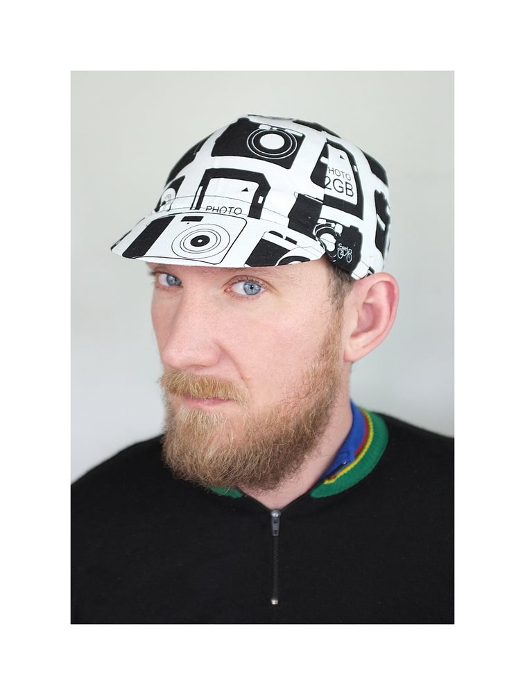 Image of Serin Photo Handmade Custom Bicycle Cap / Serin fényképezőgép mintás biciklis sapka