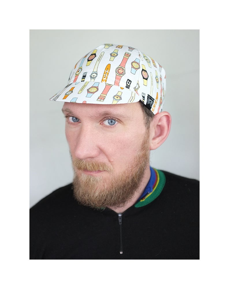 Image of Serin Watch Handmade Custom Bicycle Cap / Serin óra mintás biciklis sapka