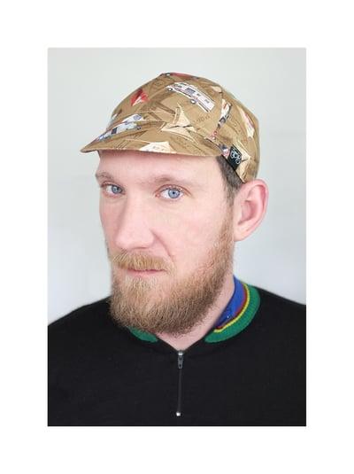 Image of Serin Camper Handmade Custum Cycling Cap / Serin kempingezés mintás biciklis sapka