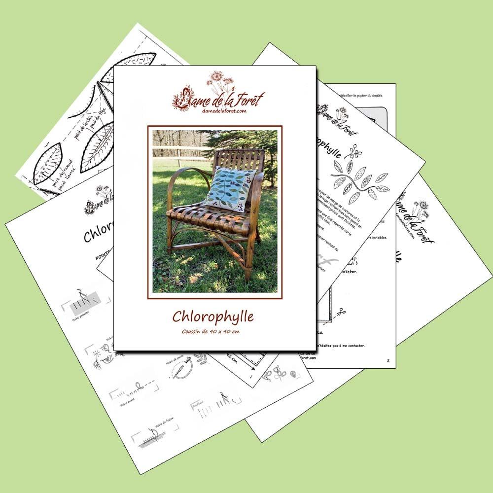 Image de COUSSIN CHLOROPHYLLE  -PDF- dame de la forêt