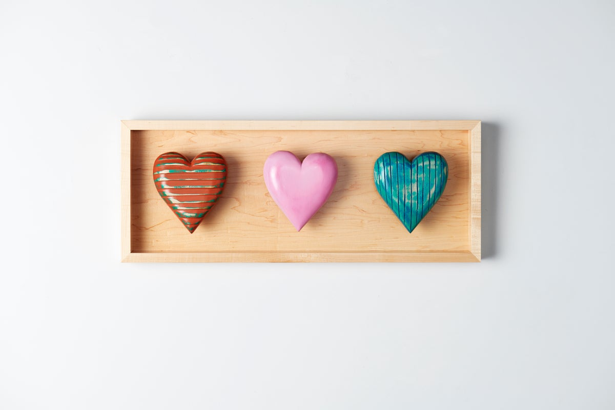 Image of Three Heart Shadow Box