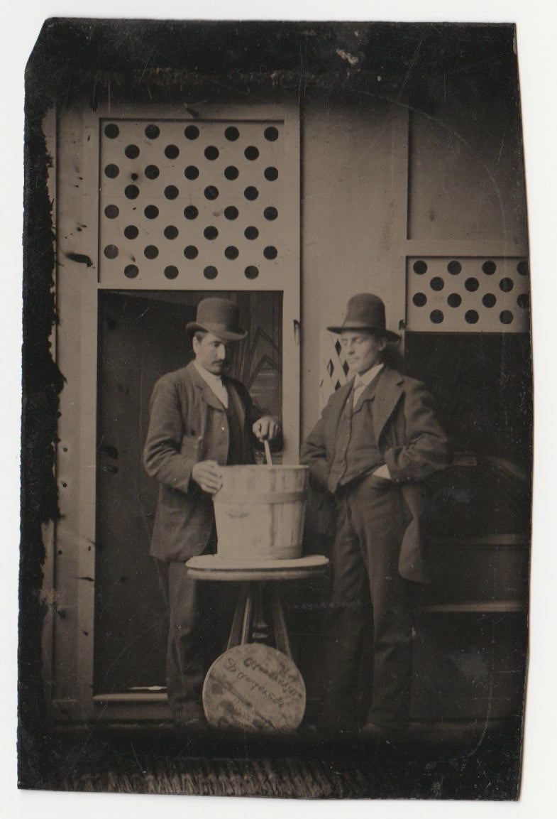 Image of Occupational tintype: tanner or glover, Gloversville New York, ca. 1890