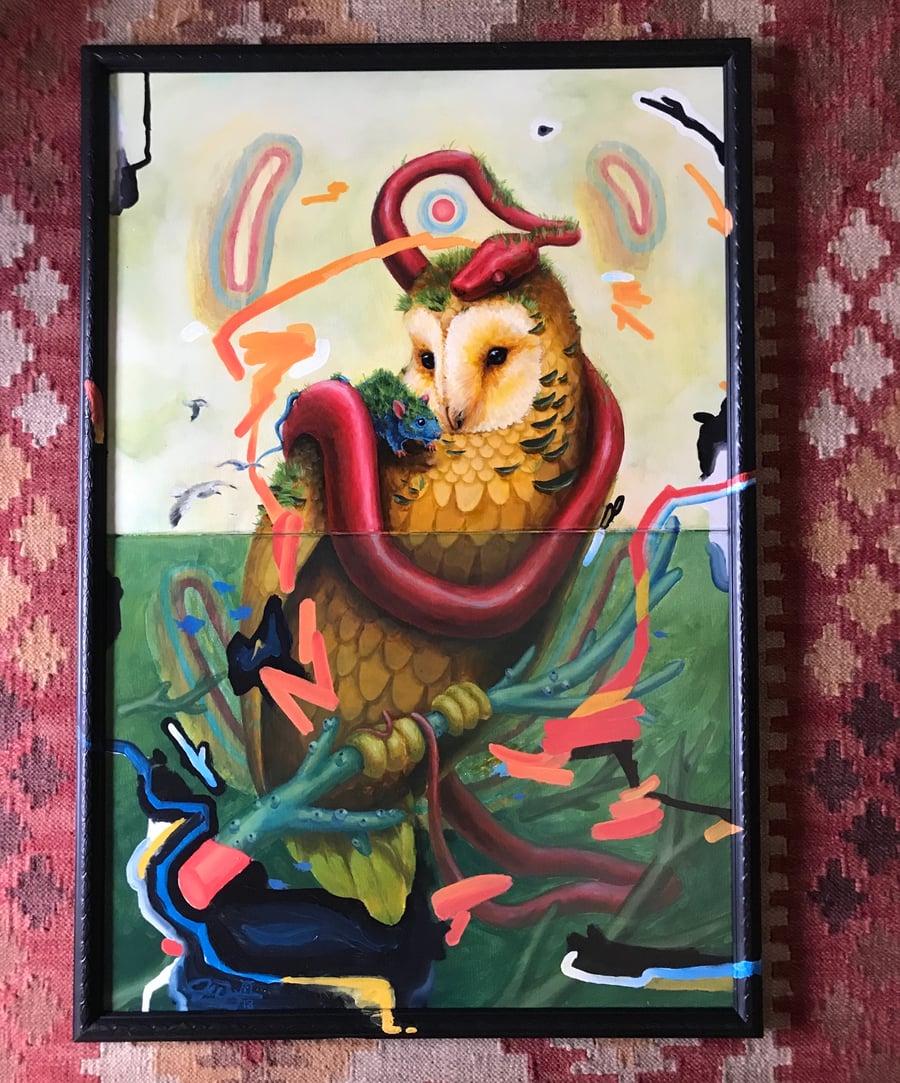 "Image of ""Friends"" Original Painting Custom Framed"