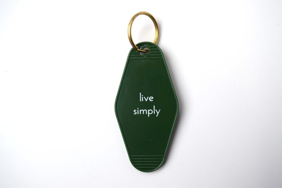 Image of live simply keytag