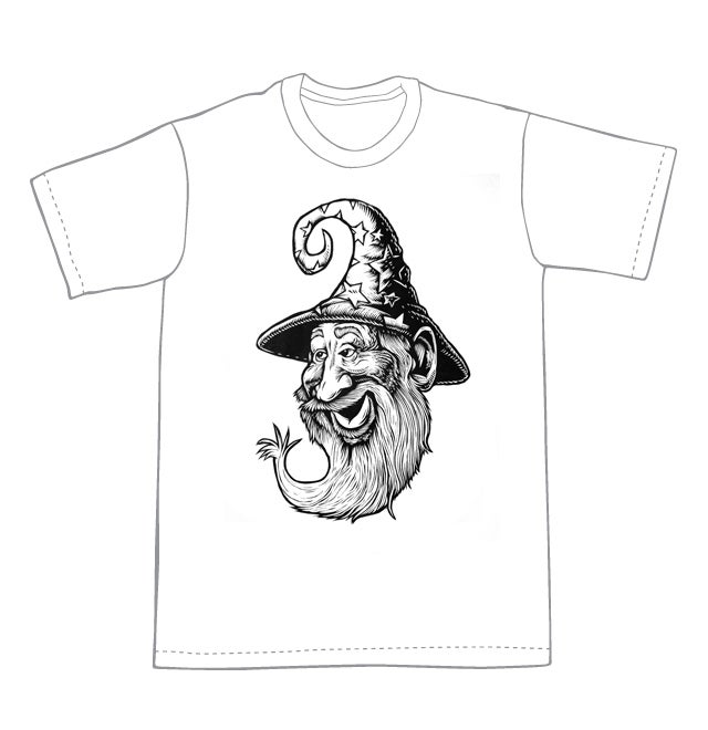 Wizard T-shirt (A3)**FREE SHIPPING**