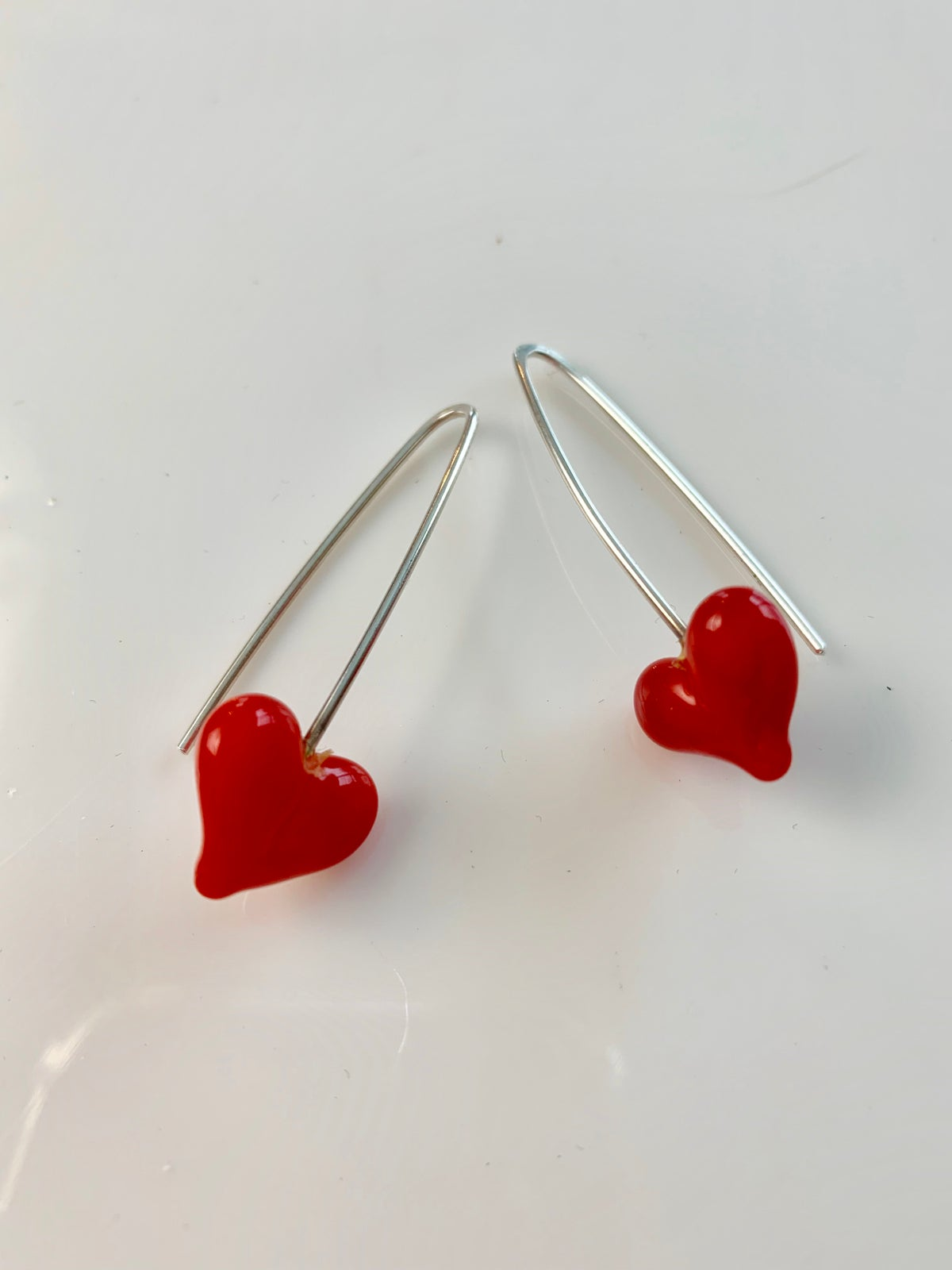 Image of Red Heart Earrings