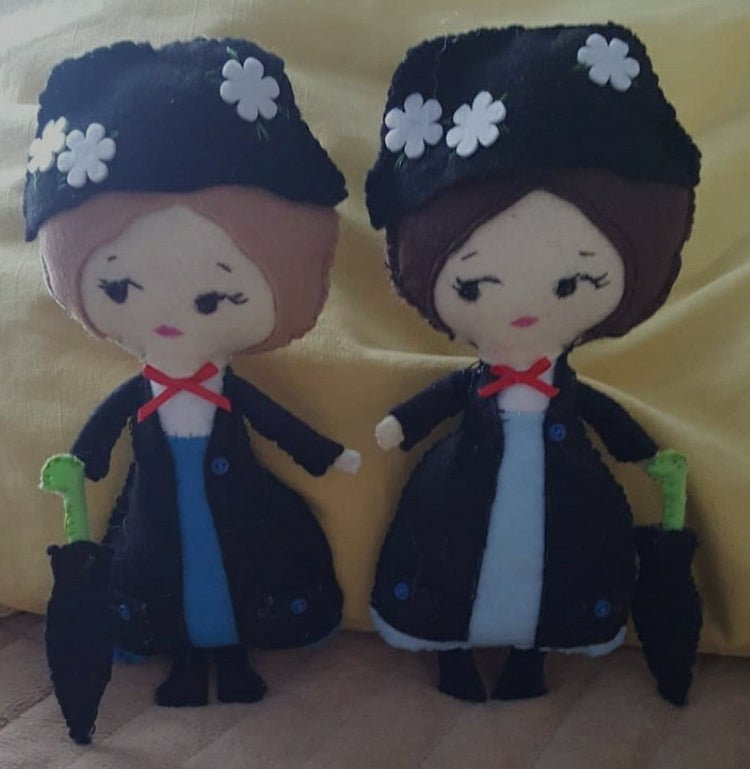 Image of Mary Poppins Felt Poseable Doll