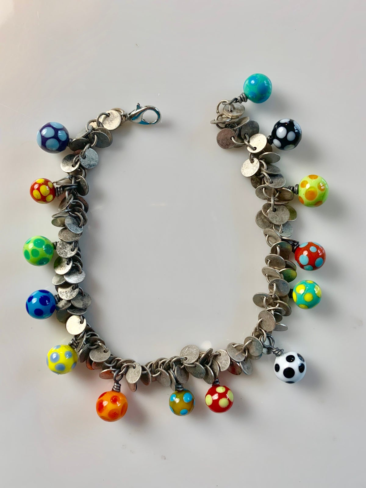 Image of Polk-A-Dot Ball Dangle Bracelet