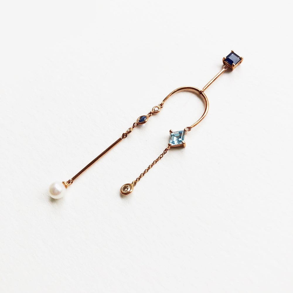Image of Blue Mobile Earring (single piece)