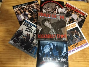 "Image of ""ROCKABILLY STAR"" CRAZY CAVAN   6 X 7"" VINYL EP's/SINGLES  BOX SET"