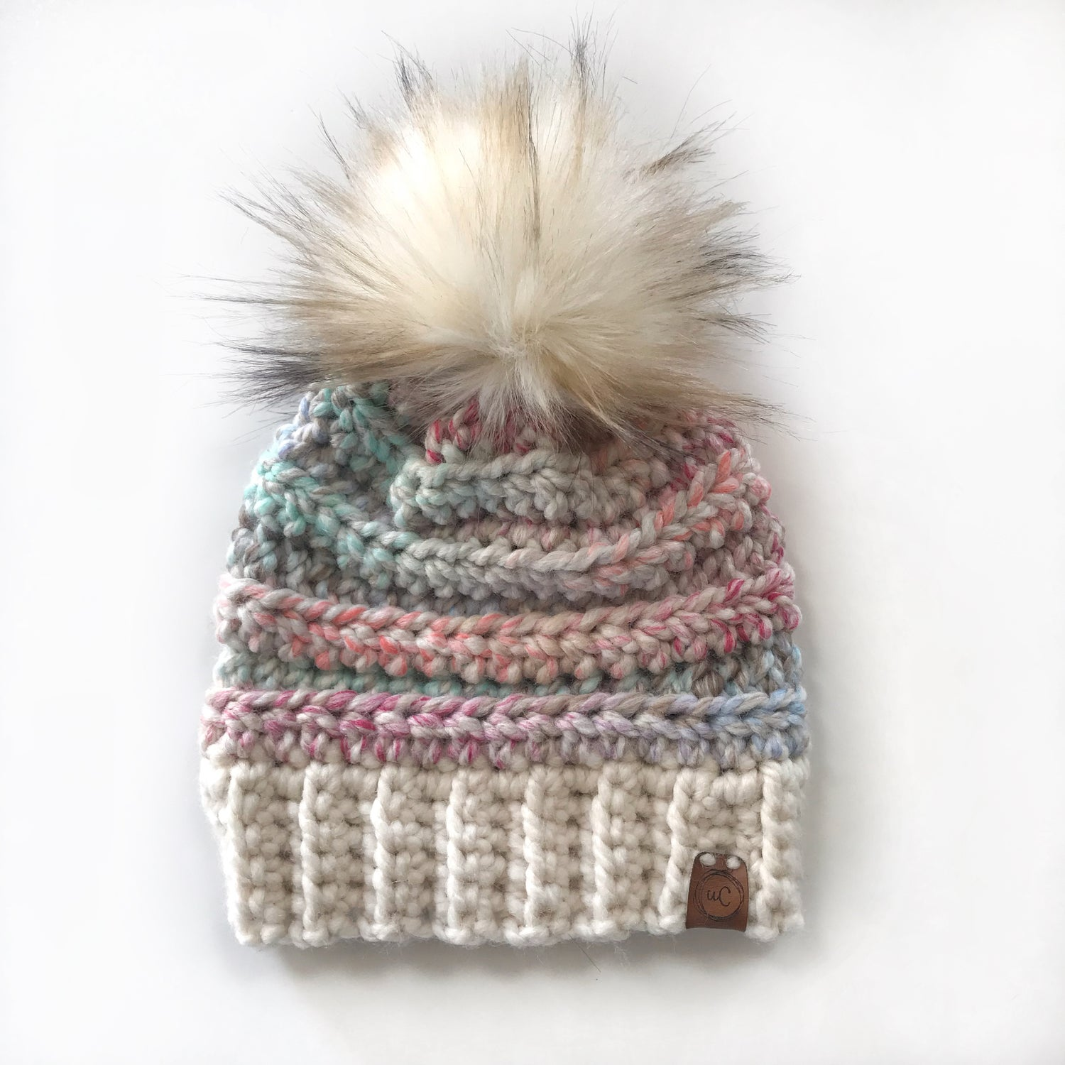 Image of Ready to Ship- Toddler and Child size Chunky fur pom Toques