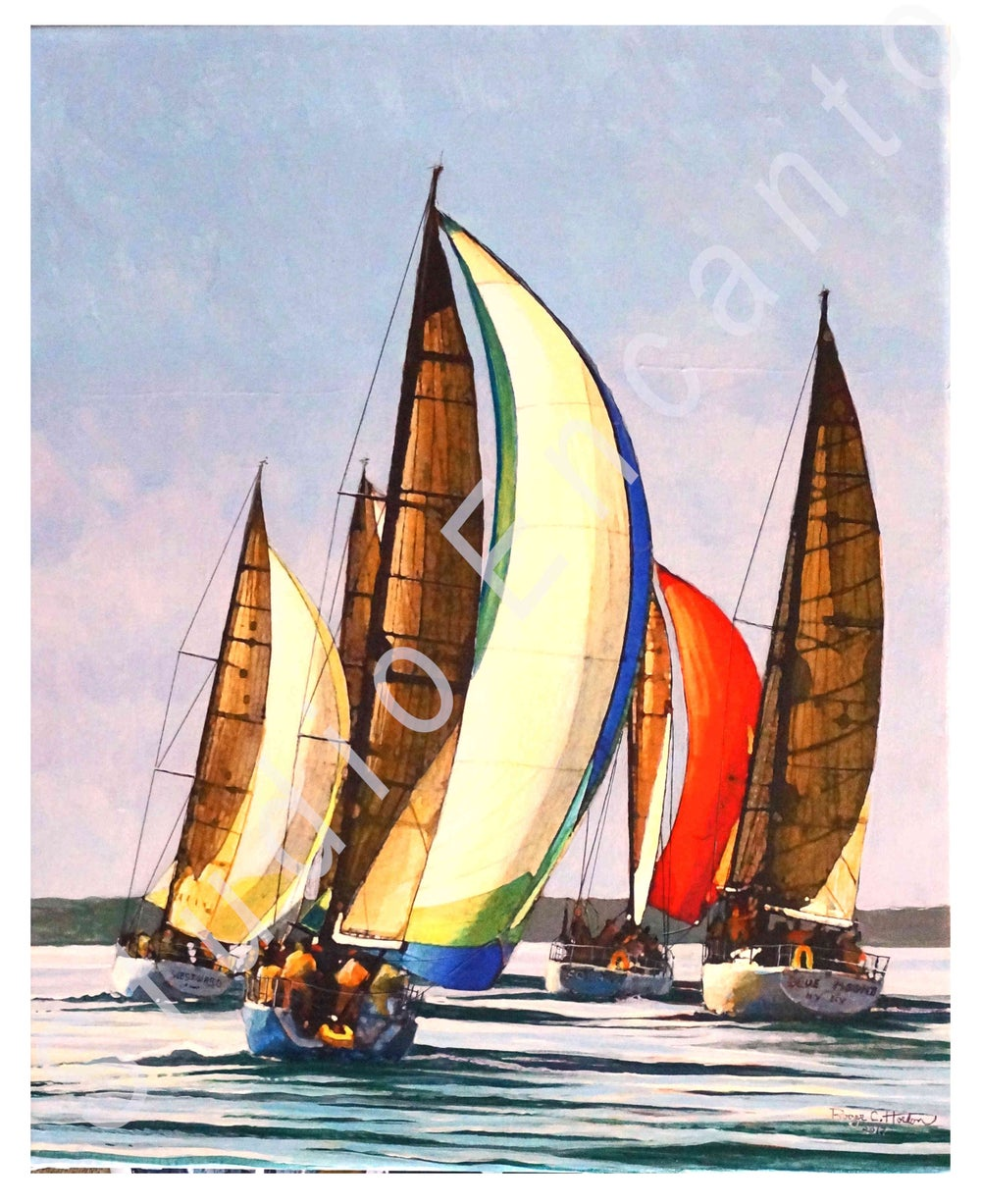 Image of Bunched up at the Mark by Captain Roger C. Horton
