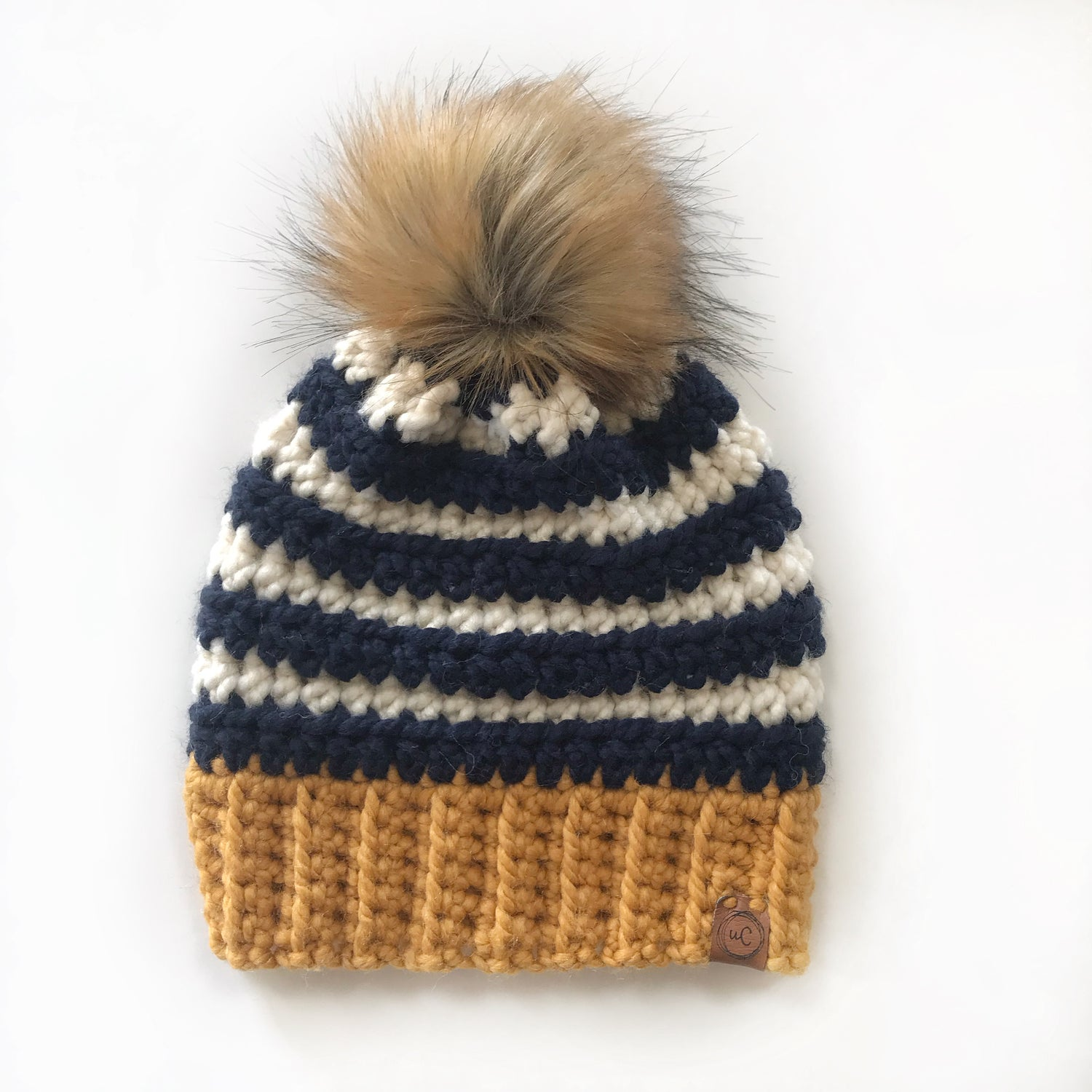Image of Adult Faux Fur Pom Hat- Ready to ship