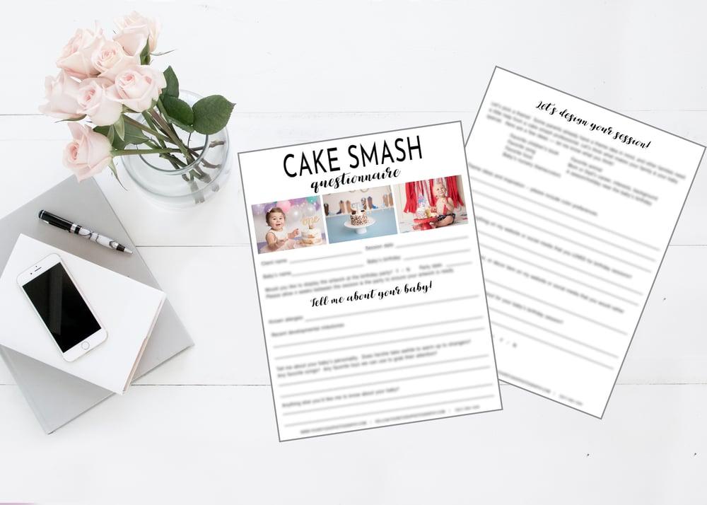 Image of Cake Smash Client Questionnaire