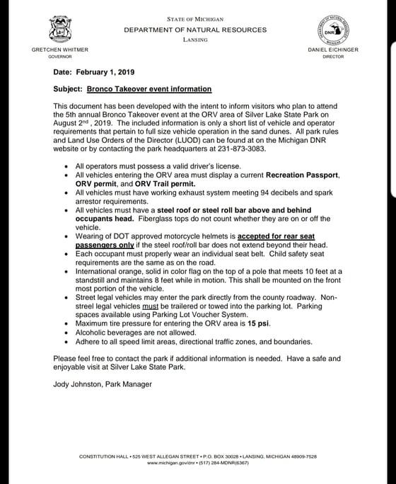 Image of DNR ORV park guidelines