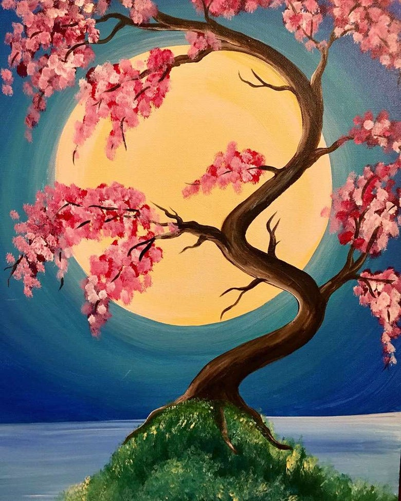 Image of CHERRY BLOSSOM MOONRISE FRIDAY 1 MARCH 7 -9PM