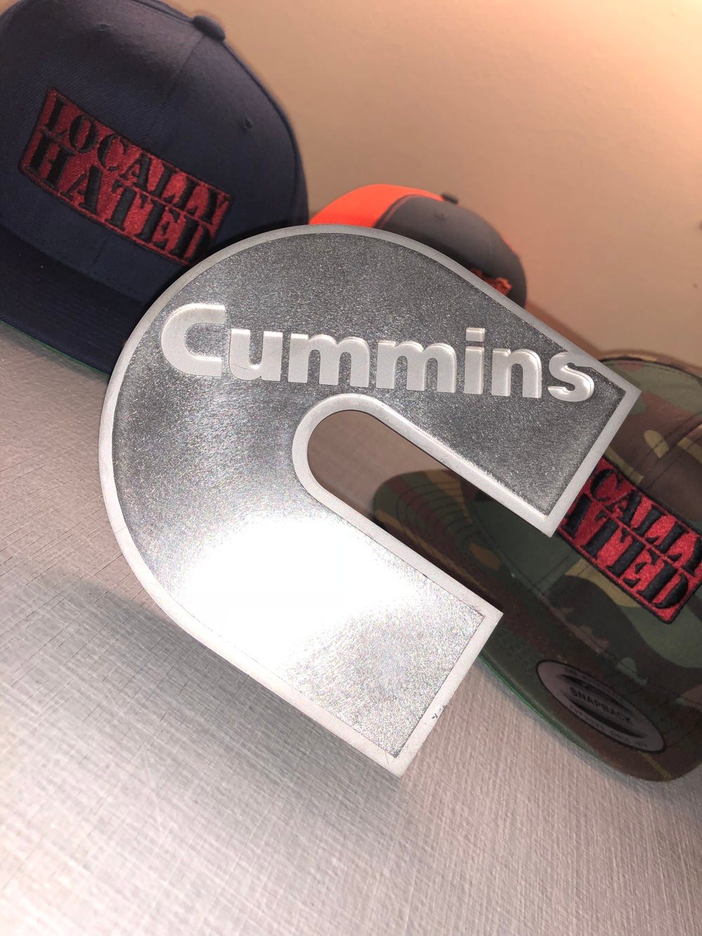 Image of Stainless steel Dual plate Cummins grill badge