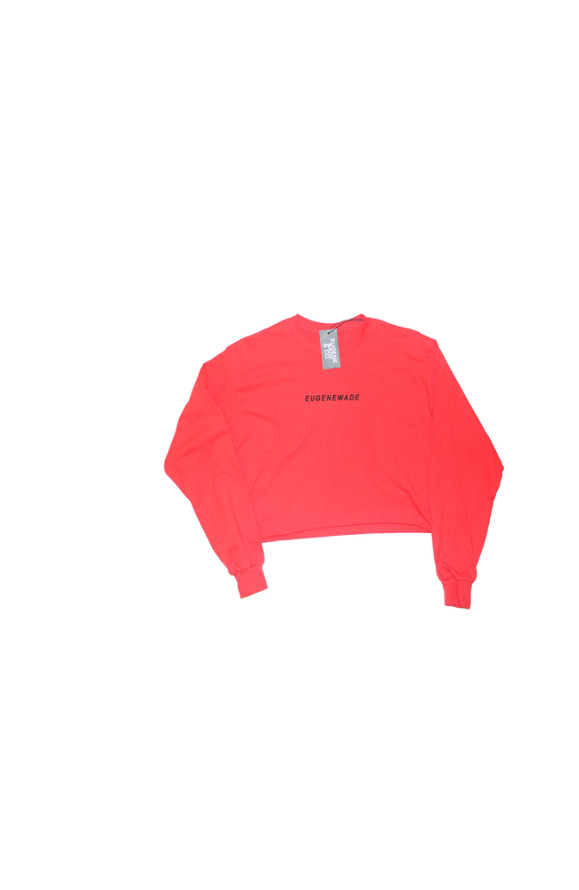 Image of LONG-SLEEVE CROP TOP (RED)