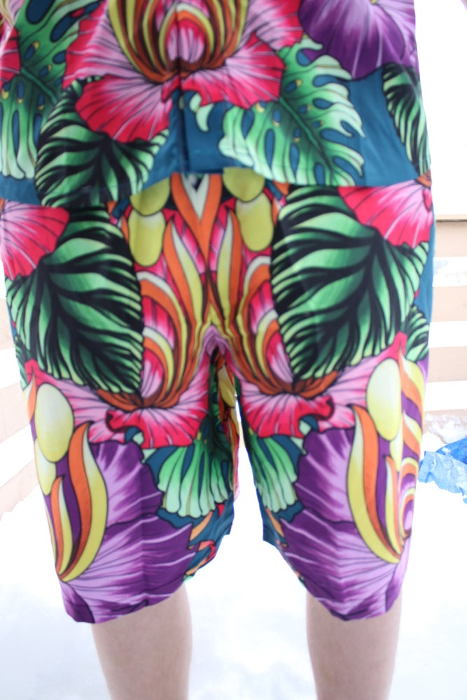 Image of Hawaiian Style Method - Green Shorts