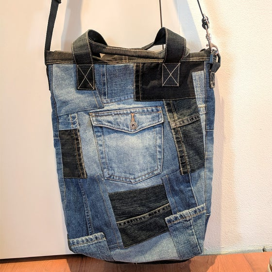 Image of Denim Jeans Up-Cycle Tote - Pre-Order