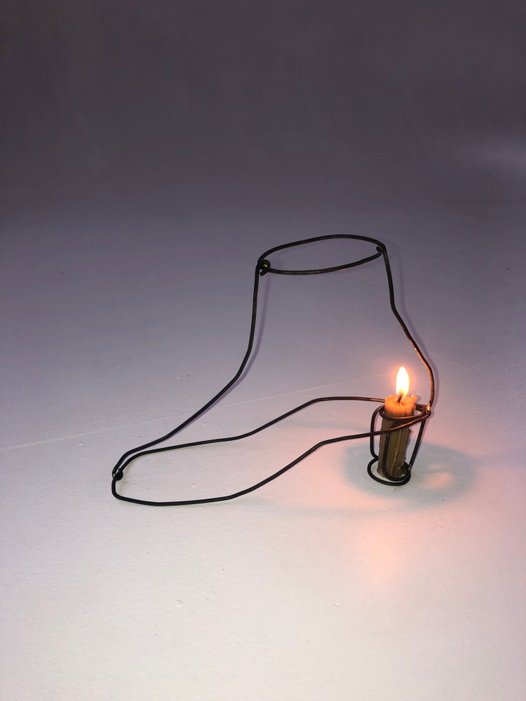 Image of Boot Candle Holder