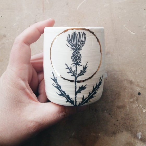 Image of Thistle cup *DEC 18 SHIPPING*