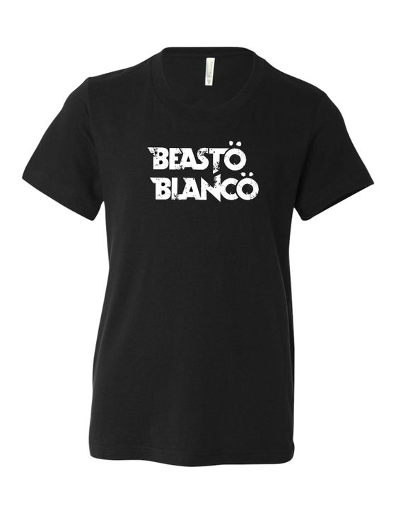 "Image of OFFICIAL - BEASTO BLANCO - YOUTH ""CLASSIC"" LOGO BLACK SHIRT"