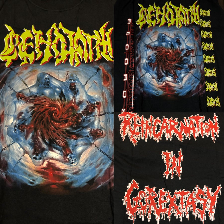 "Image of Officially Licensed Cenotaph ""Reincarnation in Gorextacy"" Short and Long sleeve shirts!"