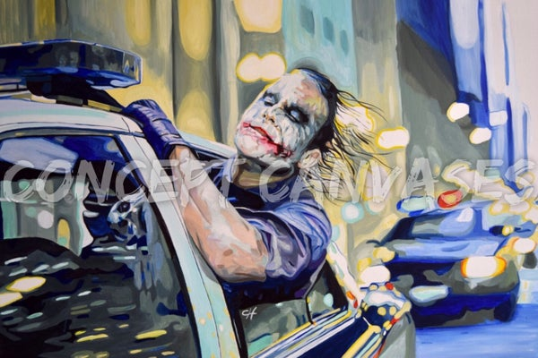 Image of LARGE A1 POSTER. The Joker 'Live Without Rules'