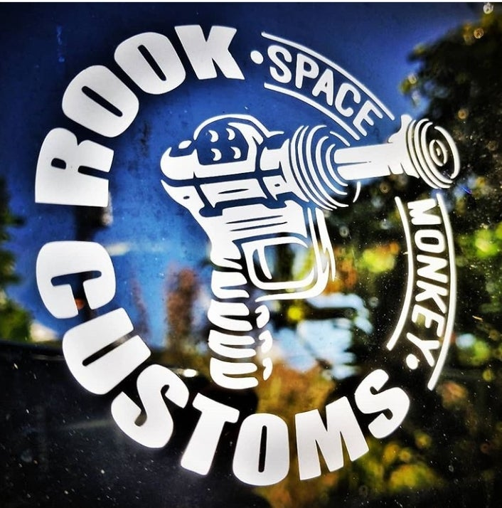 Image of Rook Customs Ray-Gun Sticker 4""
