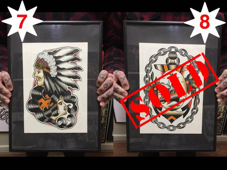 Image of Original Paintings ~ size A4