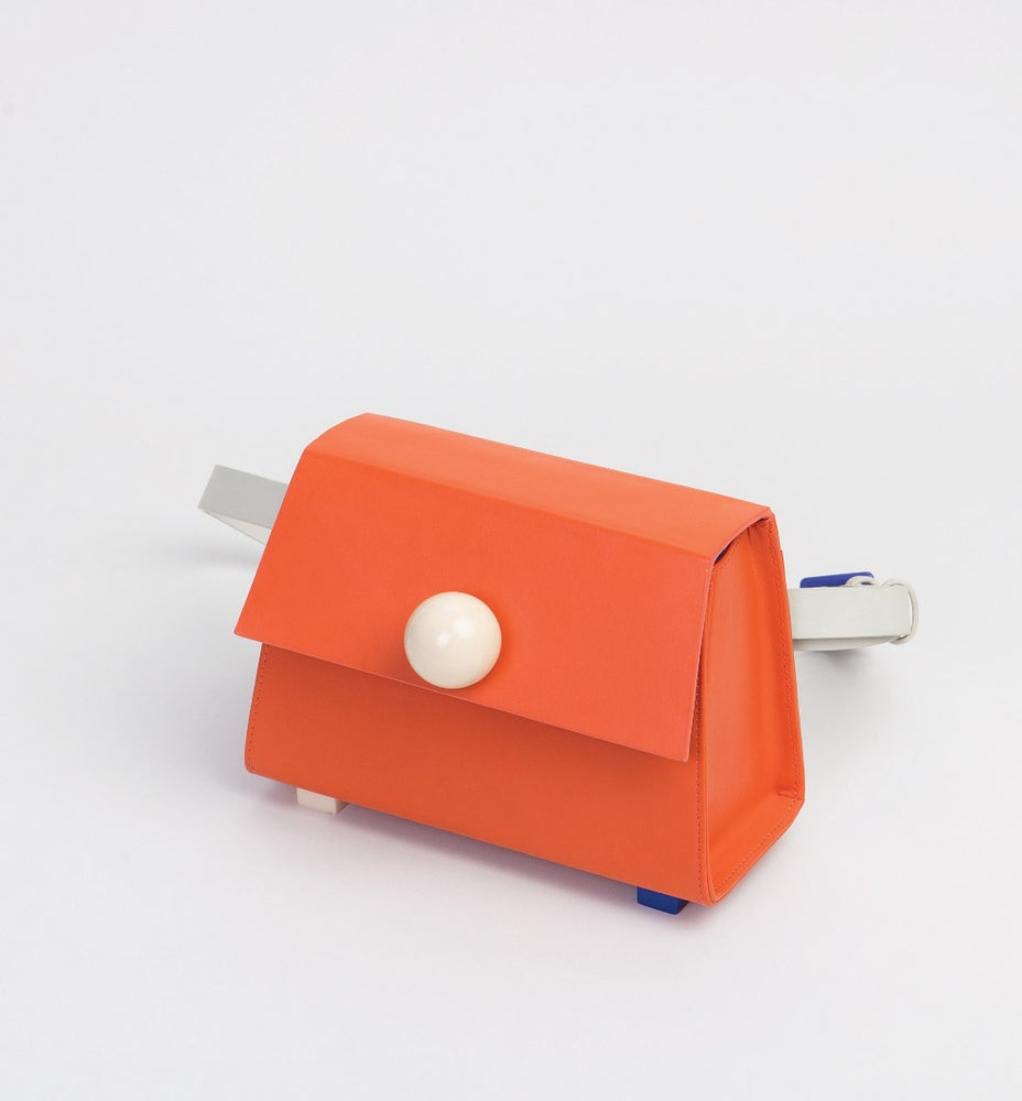 Image of Mini Trapezoid belt bag • Orange