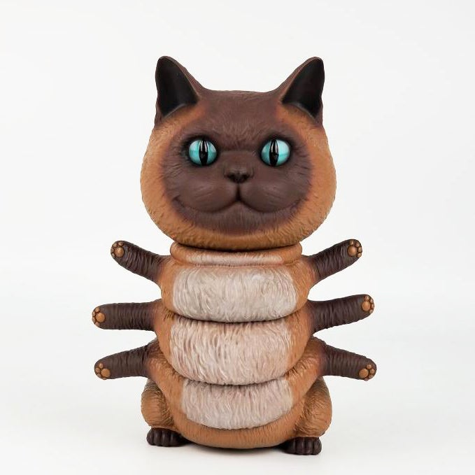 "Image of ""Siamese"" Kittypillar 8"" vinyl figure from 3A and Tenacious Toys"