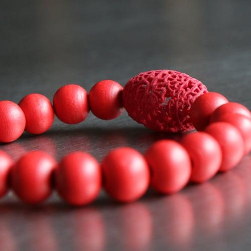Image of 3D printed bracelet OVAL.FLORAL