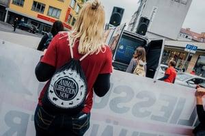 """Image of Turnbeutel/Gymbag """"Animal Liberation Now"""" black"""
