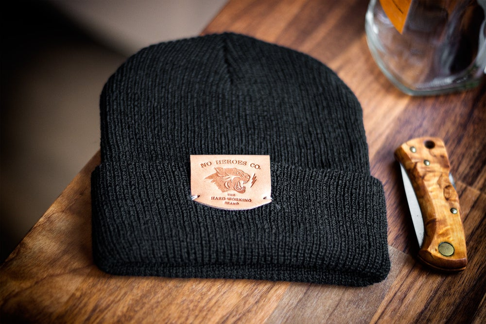 Image of The Wool Wanderer Cap (BLACK)